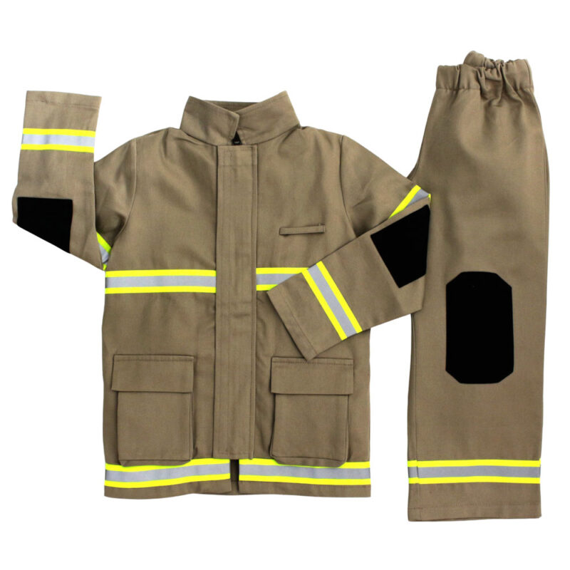 A Tan coloured childrens Firefighter costume