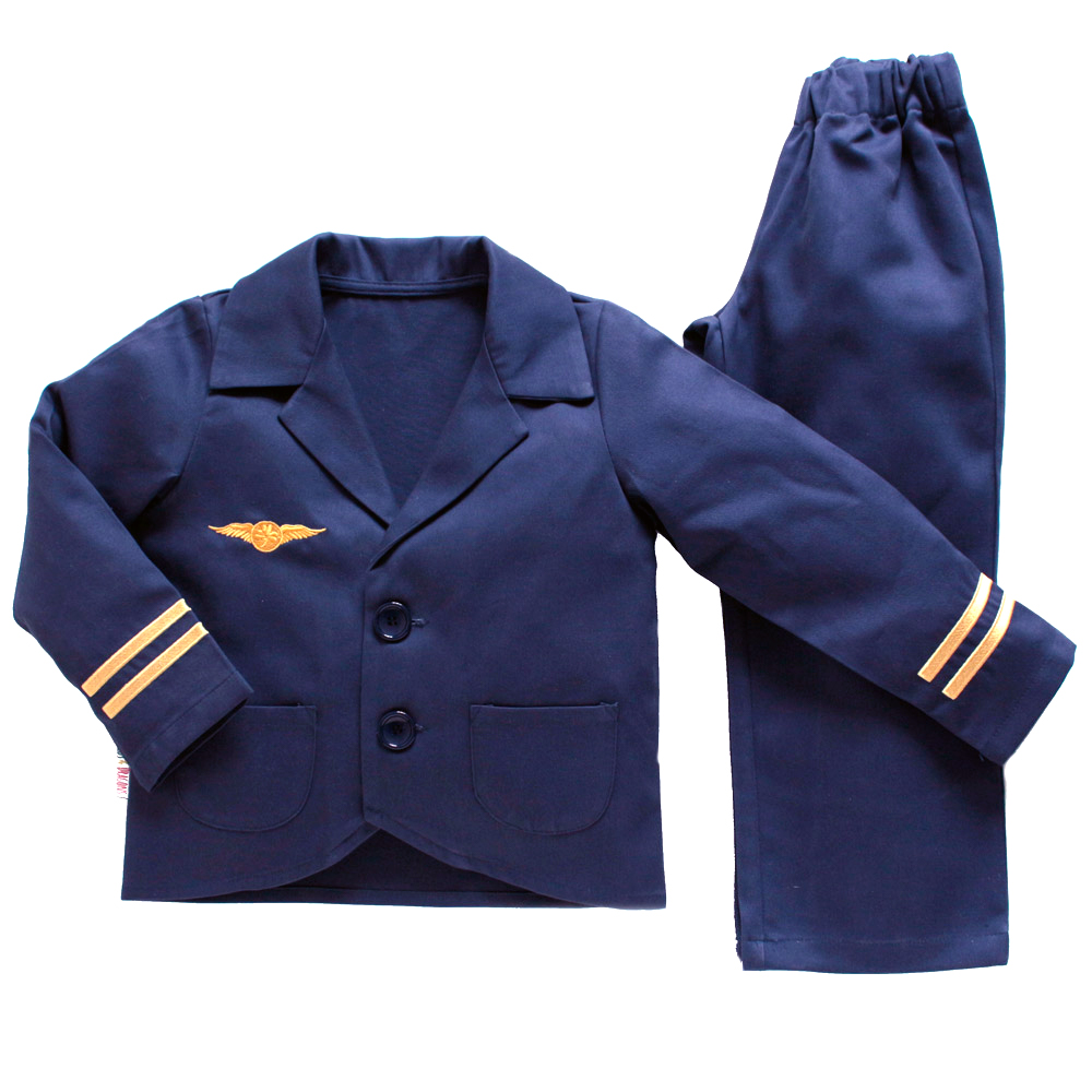Childrens navy pilot jacket and trouser set
